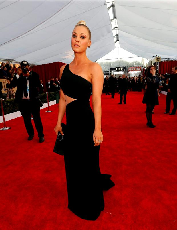 Actress Kaley Cuoco arrives at the 22nd Screen Actors Guild Awards in Los Angeles, California January 30, 2016. REUTERS/Mario Anzuoni