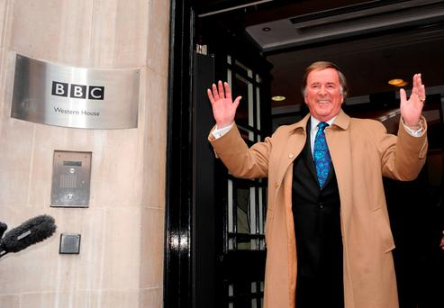 File photo dated 18/12/09 of Sir Terry Wogan leaving BBC Radio 2 in London after his final breakfast show, as the veteran broadcaster has died aged 77 following a short illness