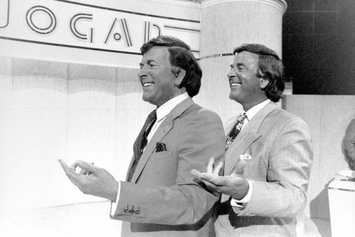 File photo dated 19/07/1989 of Sir Terry Wogan (right) revealing his waxwork on his television show 'Wogan', as the veteran broadcaster has died aged 77 following a short illness