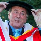 Terry Wogan, Broadcaster pictured at the University of Limerick in 2004 where he was conferred with an Honorary Doctorate