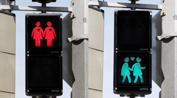 The 'gay lights' in Linz