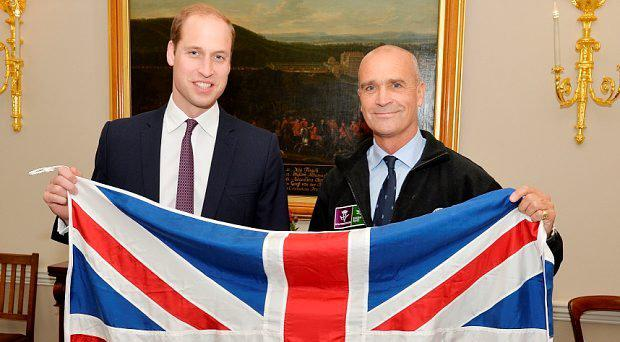 Duke of Cambridge (left) with former Army officer Henry Worsley, 55, from Fulham, London