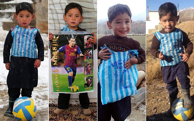 6a2642b7d Afghan boy (5) who became online sensation with improvised Messi jersey  could be set to meet football hero