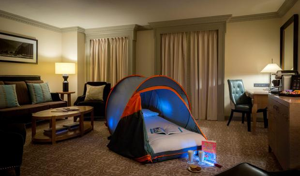 The Westin Hotel's 'glamping' package.