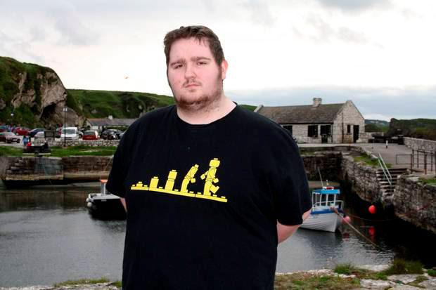 Tom once weighed 27 stone and 5lb but has lost 13 stone