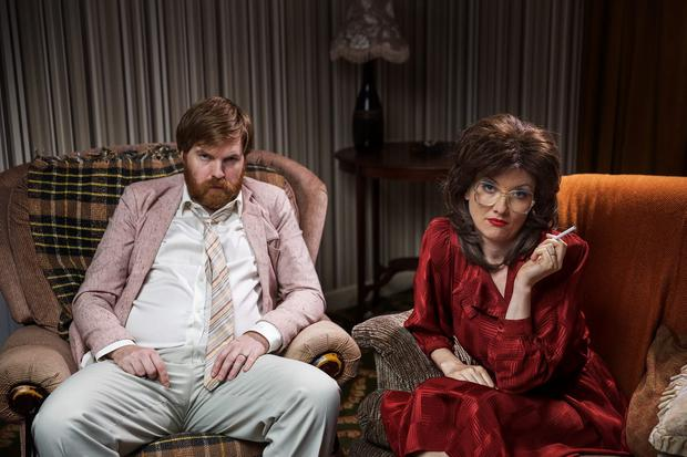 Bernard O'Shea and Jennifer Zamparelli in Bridget & Eamon, RTÉ2 Photograph by Paul Doherty