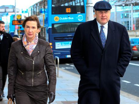 Deirdre Yates (52), of Enniscorthy, Co. Wexford, with her husband, former Fine Gael minister, Ivan Yates