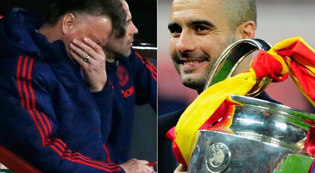 Louis van Gaal has even more reason to feel nervous now that Pep Guardiola is moving to Manchester City