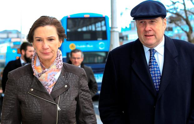 Ivan Yates and his wife Deirdre arriving at the High Court