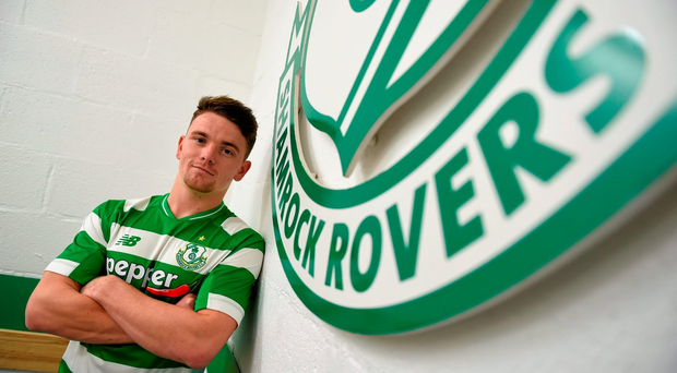New Shamrock Rovers signing Dean Clarke following a pre-season press conference at Tallaght Stadium yesterday. Picture credit: Stephen McCarthy / Sportsfile