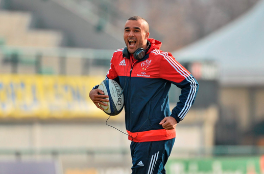 Munster's Simon Zebo has signed a new two-year deal with the club. Picture credit: Diarmuid Greene / Sportsfile