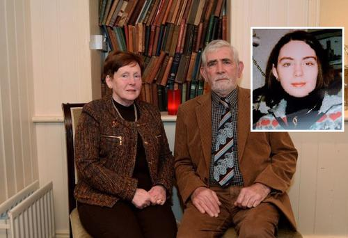 Michael and Bernadette Jacob with their missing daughter Deirdre (inset)