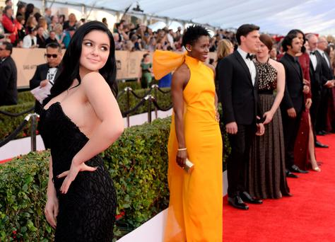 Actress Ariel Winter attends The 22nd Annual Screen Actors Guild Awards at The Shrine Auditorium on January 30, 2016 in Los Angeles, California. 25650_016 (Photo by Stefanie Keenan/Getty Images for Turner)