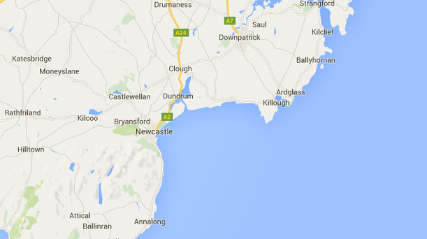 The woman was found on the east end of Tyrella Strand, near Downpatrick.