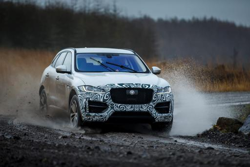 Testing the prototype of Jaguar F-PACE.