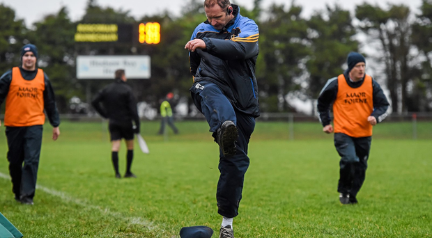 Roscommon manager Fergal O'Donnell reacts after Monaghan scored a late goal (SPORTSFILE)