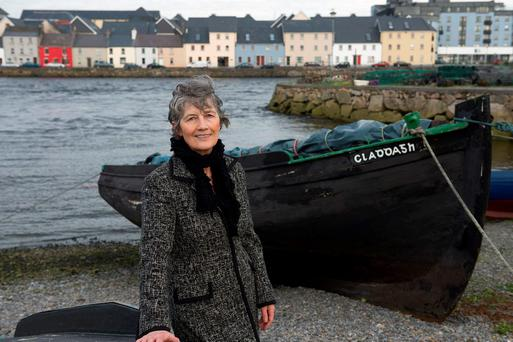 Councillor Catherine Connolly at the Claddagh Basin in Galway West. Photo: Andrew Downes