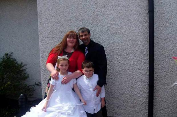 Daniel Haslam with his sister Niamh and with his mum Carol and dad Kevin