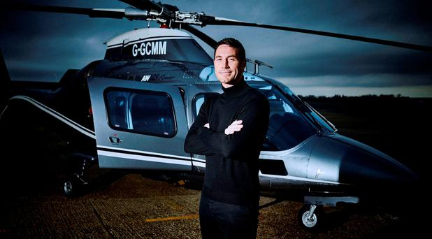 Firefighter Patrick McBride, 39, who has seen off more than 20,000 hopefuls to clinch the role of Cadbury's new modern Milk Tray Man Photo: Cadbury/PA Wire