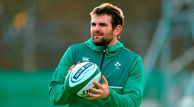 Ireland's Jared Payne during squad training. Carton House, Maynooth, Co. Kildare. Picture credit: Matt Browne / SPORTSFILE