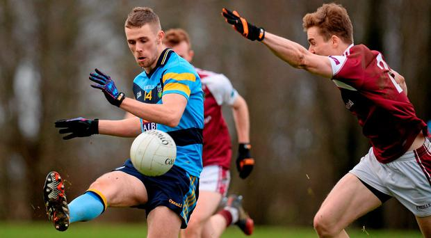 Paul Mannion, University College Dublin, in action against Kevin McDonnell, NUI Galway. Independent.ie HE GAA Sigerson Cup, 1st Round, NUI Galway v University College Dublin, Dangan, Galway. Picture credit: Seb Daly / SPORTSFILE