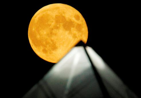 The moon: scientists have discovered it can influence rainfall on the Earth. Photo: Reuters