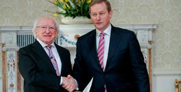 President Michael D Higgins and Taoiseach Enda Kenny. Photo: Maxwell's