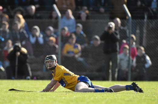 Tony Kelly is out for at least eight weeks after suffering an ankle ligament injury in Clare training (SPORTSFILE)