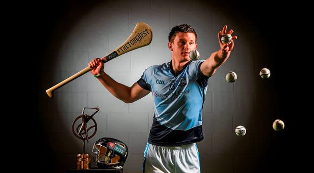 Kevin Downes from Na Piarsaigh after receiving the Munster Club Hurler at the Year award at Croke Park (SPORTSFILE)