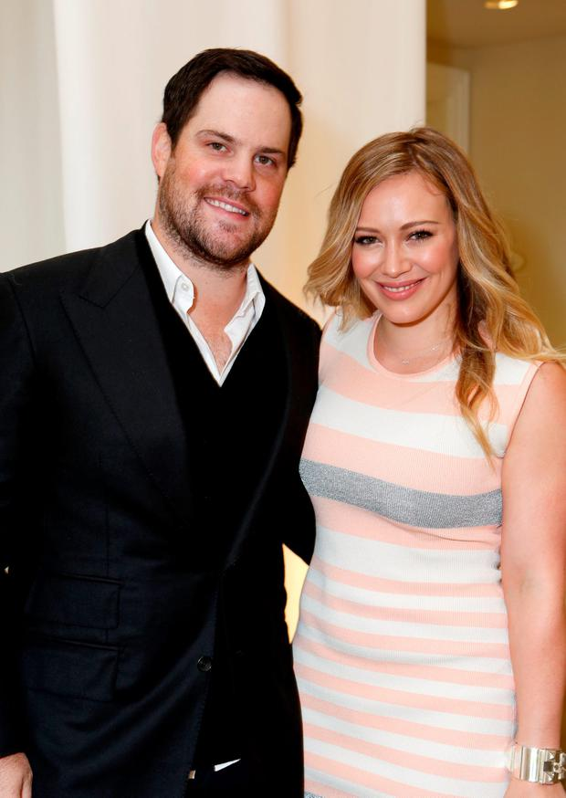 Actress Hilary Duff (R) and NHL player Mike Comrie attend the 7th Annual March of Dimes Celebration of Babies, a Hollywood Luncheon, at the Beverly Hills Hotel on December 7, 2012 in Beverly Hills, California. (Photo by Alexandra Wyman/Getty Images For March Of Dimes)