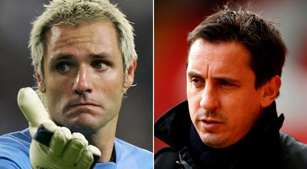 Santiago Canizares is not impressed with Gary Neville