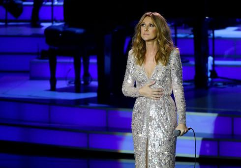 Singer Celine Dion performs at The Colosseum at Caesars Palace