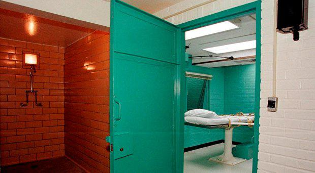 The entrance to a 'death chamber' at the Texas Department of Criminal Justice