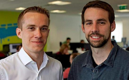 Swiftkey founders Reynolds and Dr Ben Medlock