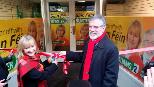 Imelda Munster and Gerry Adams cut the ribbon (Photo: John Brennan)