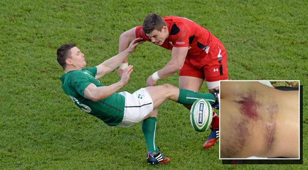 Brian O'Driscoll gets creamed by Scott Williams in 2014