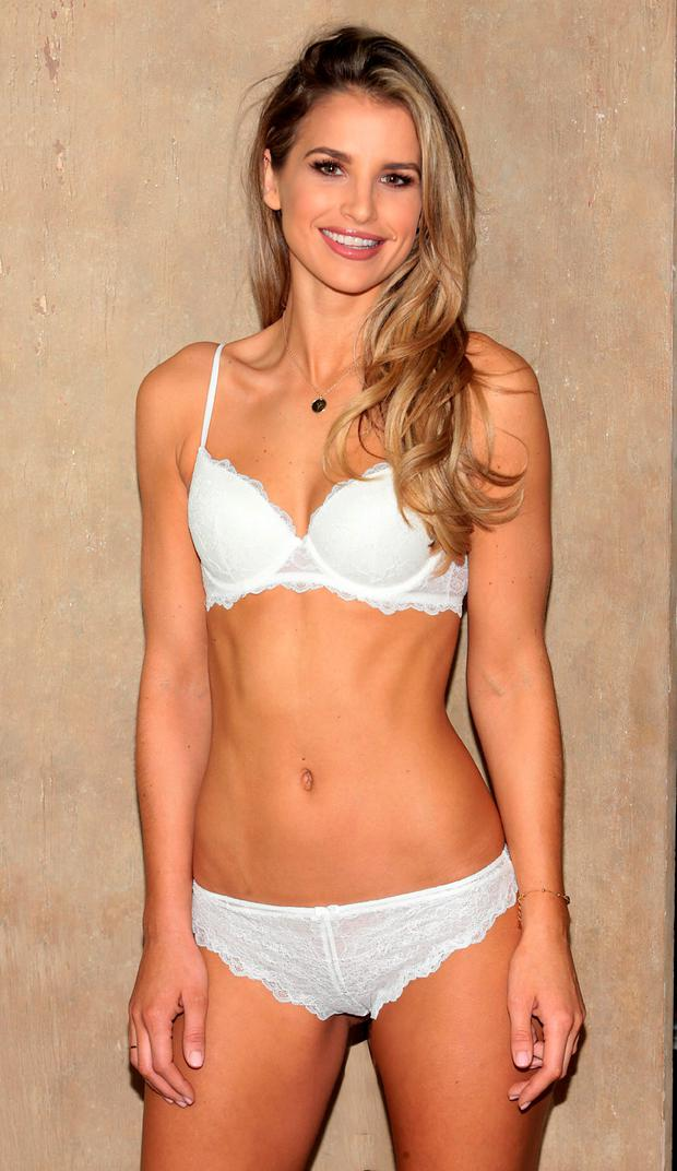 Vogue Williams wears Lidl's Esmara Push Up Bra, €5.99 and Lace Thong, €4.99. Picture: Brian McEvoy