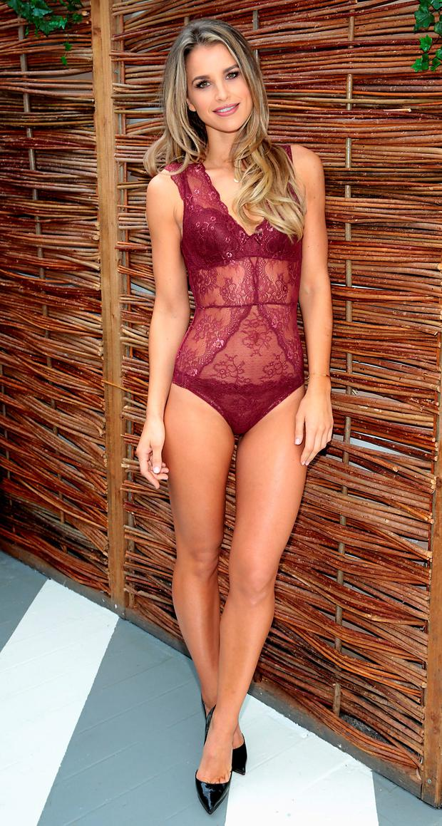 Vogue wears Lidl's Esmara Bodysuit, €7.99 , Push Up Bra €5.99 and Lace Thong, €4.99. Picture: Brian McEvoy