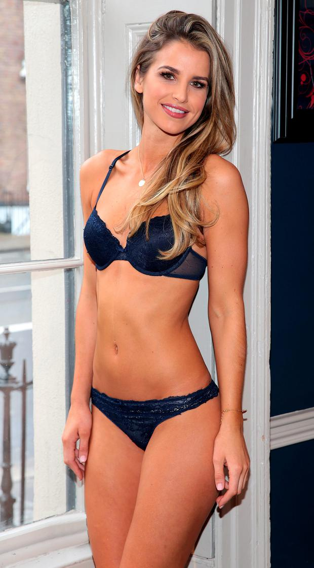 9c296ffca8ff Vogue Williams shows off killer figure in Lidl s lingerie range ...