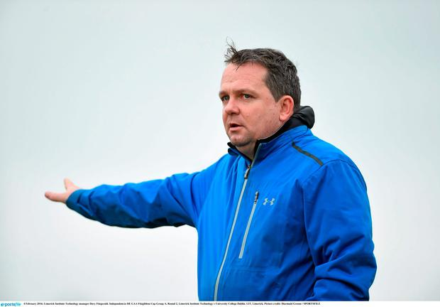 Limerick Institute Technology manager Davy Fitzgerald. Independent.ie HE GAA Fitzgibbon Cup Group A, Round 2, Limerick Institute Technology v University College Dublin. LIT, Limerick. Picture credit: Diarmuid Greene / SPORTSFILE
