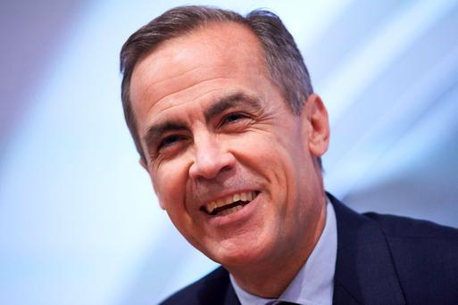 The Governor of the Bank of England, Mark Carney, speaks during the quarterly Inflation Report press conference in central London. Photo: Reuters