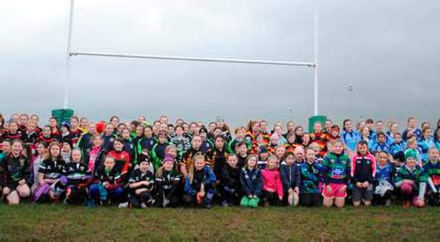 'Greystones RFC played host to 160 girls from 11 clubs across the province'