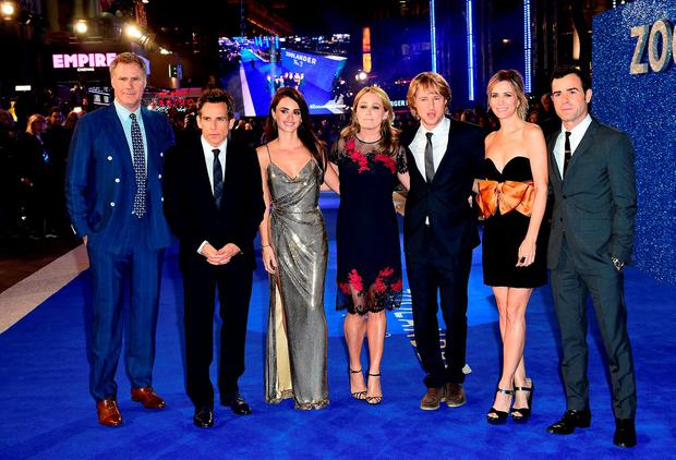 Will Ferrell, Ben Stiller, Penelope Cruz, Christine Taylor, Owen Wilson, Kristen Wiig and Justin Theroux attending the Zoolander 2 UK premiere, held at the Empire, Leicester Square, London.