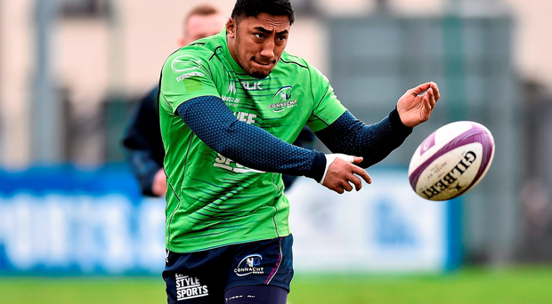 Connacht's Bundee Aki is in contention to win the Sekio January Player of the Month award Photo: Sportsfile