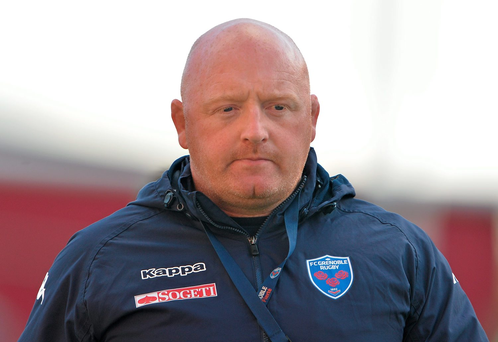 Grenoble head coach Bernard Jackman Photo: Sportsfile