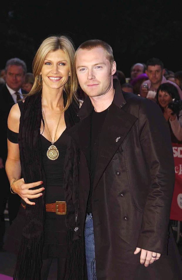 Ronan Keating and his ex wife Yvonne arrive at