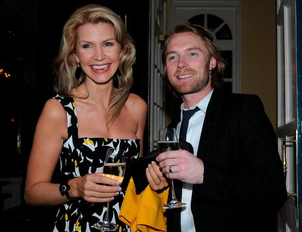 Ronan Keating and ex wife Yvonne Keating celebrate their 10th Wedding Anniversary at Shanahans on The Green on April 30, 2008 in Dublin, Ireland. (Photo by ShowBizIreland/Getty Images)