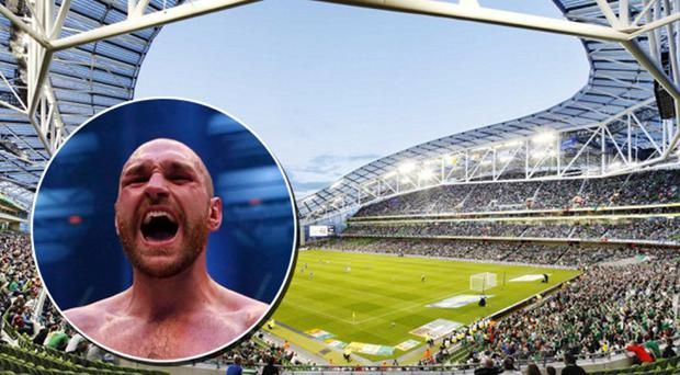 Could Tyson Fury defend his world titles at the Aviva Stadium this summer?