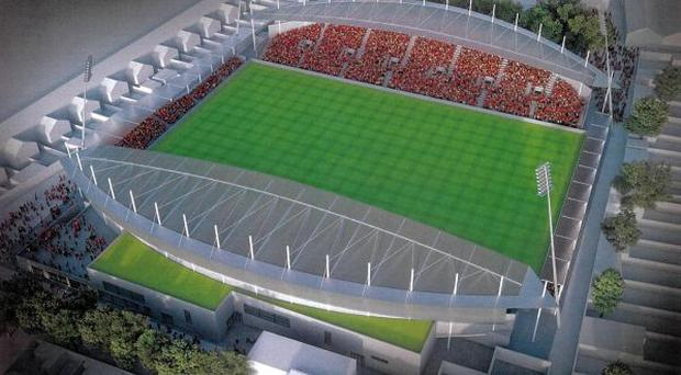 An artist's impression of what the new Dalymount Park will look like