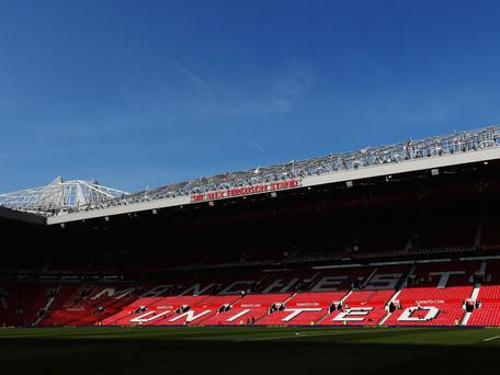 A view of Old Trafford. GETTY IMAGES